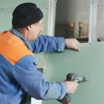 Как клеить гипсокартон на стену?