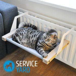 «Кроватка» для Мурки. Лежанка для кошки своими руками 26