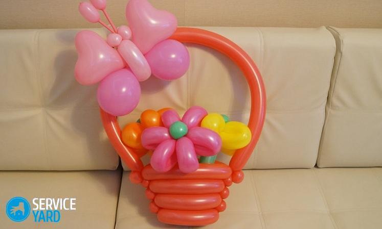 Как сделать из шариков простую корзину