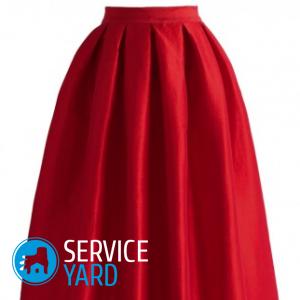 Как вшить резинку в пояс юбки?