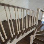 Чертеж лестницы с забежными ступенями