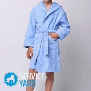 Как сшить детский халат из полотенца?