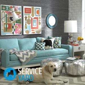 Как украсить стену над диваном в зале?