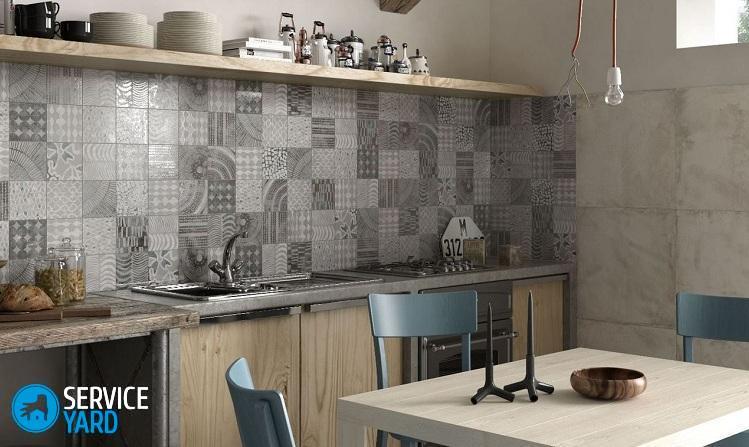 Как выбрать плитку для фартука на кухню