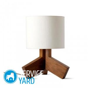 Настольная лампа из фанеры своими руками