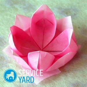 Как сделать лилию из салфеток?