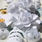 Картины из бумажных цветов своими руками