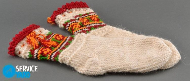 Как постирать шерстяные носки?