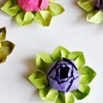 Как сделать из салфетки цветок лотоса?
