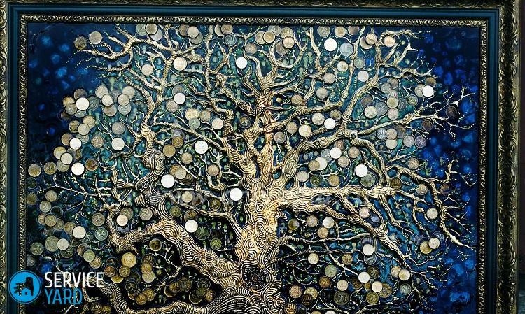 Картина денежное дерево из монет своими руками мастер 67