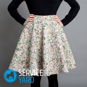 Сшить юбку на резинке большого размера