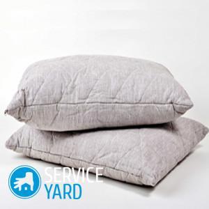 Как постирать подушку из пера?