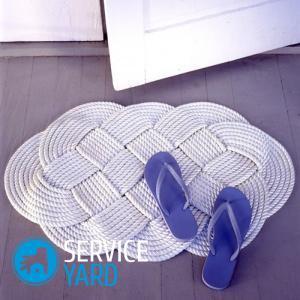 Коврики крючком, вязаные коврики крючком, коврик крючком схема 8