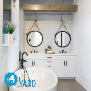 Оформление зеркала в ванной