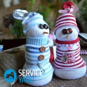 Как сделать снеговика из носка?