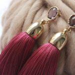 Серьги-кисти из шелковой нити — как делать?