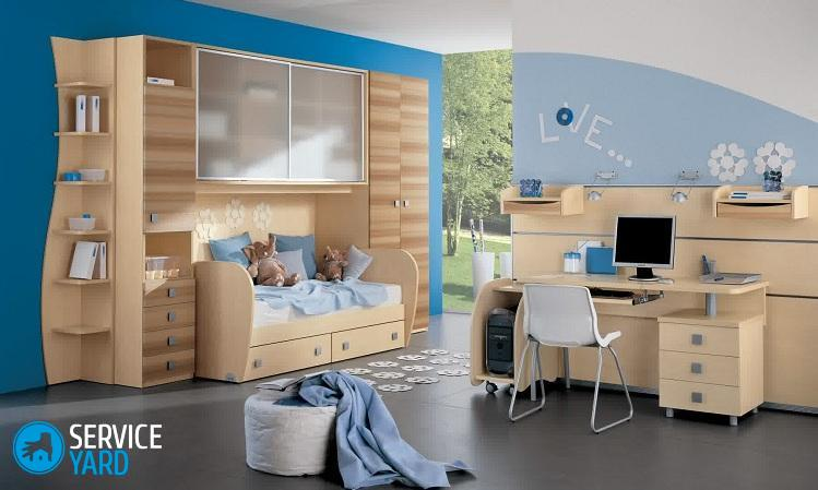 charming-wooden-kids-bedroom-furniture-sets-cabinet-wooden-daybed-combined-light-blue-bed-runner-lovely-elephants-dolls-beautify-the-kids-bedroom-interior-design