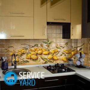 Оформление фартука на кухне — варианты