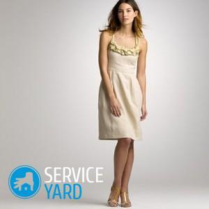 Платье из льна сшить своими руками
