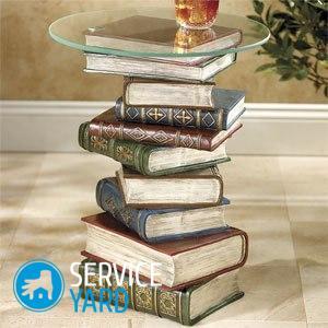 Столик из старых книг своими руками