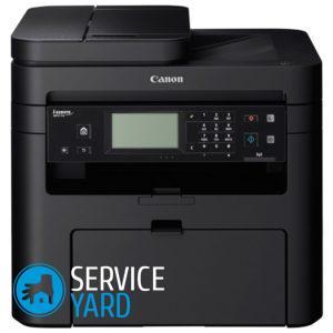 Установка картриджа в принтер