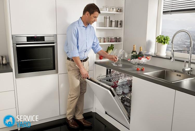 Установка посудомоечной машины на кухне под столешницу