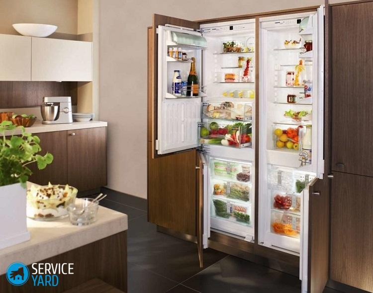 Установка встраиваемого холодильника