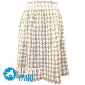 Выкройка юбки-четырехклинки