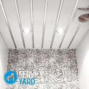 Установка реечного потолка в ванной