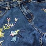 Вышивка на джинсах своими руками — схемы
