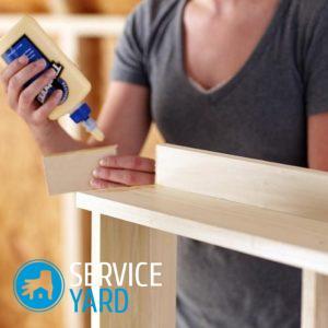 Какой лучше использовать клей для ремонта мебели?