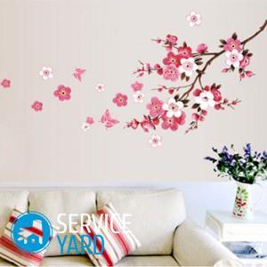 Сакура на стене, как украшение комнаты