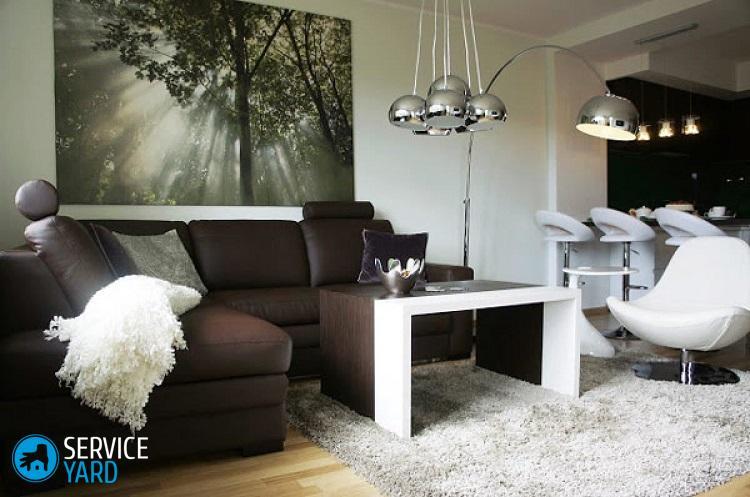 Коричневый-диван-в-интерьере-8