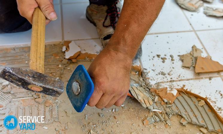 Демонтаж плитки - Ремонт своими руками