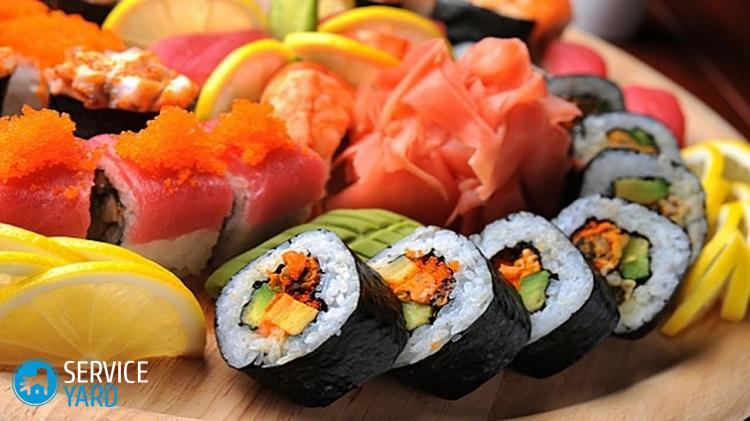 Популярные начинки для домашних суши