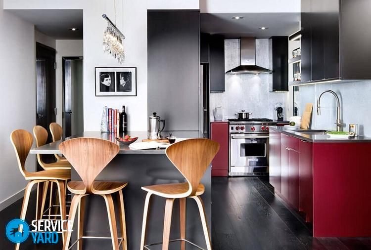 Красный кухонный гарнитур - Ремонт своими руками