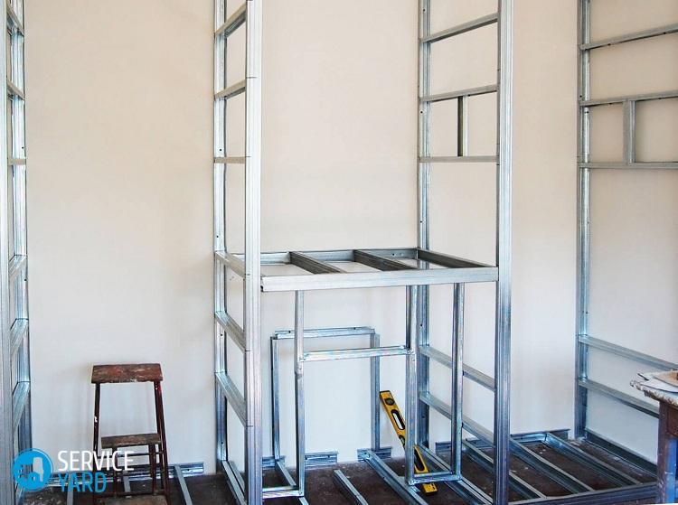 Как сделать стену из гипсокартона своими руками с дверью 54