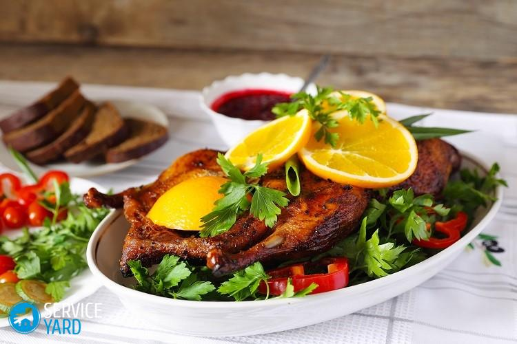 Roasted duck with orange