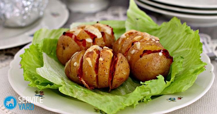 Запеченный картофель в микроволновке2