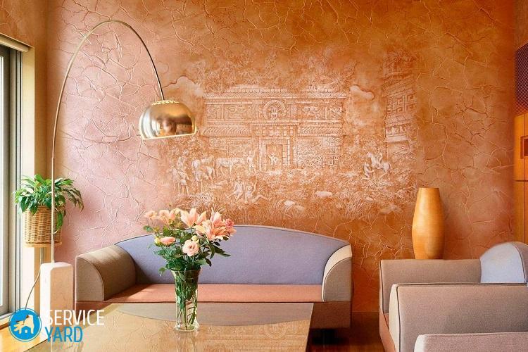 Фактурная краска для стен - Ремонт своими руками