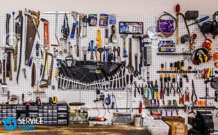 Хранение инструмента на стене