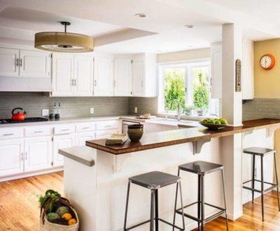 200 идей дизайна интерьера кухни с барной стойкой с фото 🖼