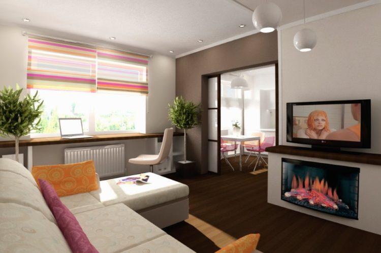 200 идей дизайна интерьера с объединением кухни и гостиной с фото - Ремонт своими руками