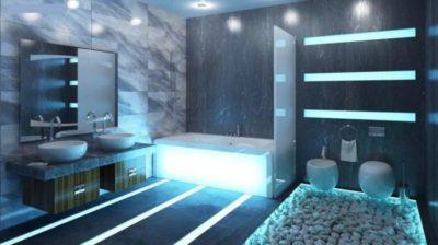 200 идей дизайна освещения в ванной с фото 🖼