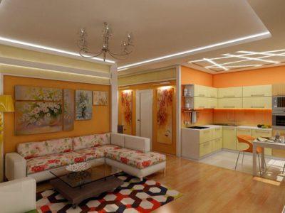 200 идей дизайна интерьера однокомнатной квартиры 40 кв. м с фото 🖼