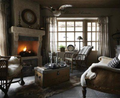 200 идей дизайна интерьера гостиной в стиле прованс с фото 🖼