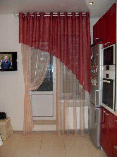 200 идей дизайна штор для кухни с балконом с фото 🖼