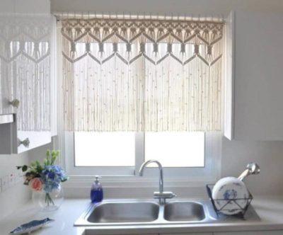 200 идей дизайна интерьера с короткой тюлью на кухню с фото 🖼