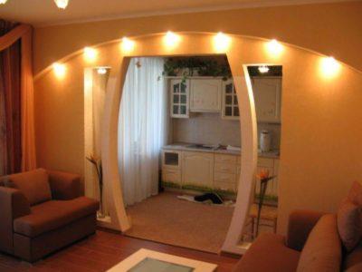 200 идей дизайна интерьера с аркой из гипсокартона с фото 🖼