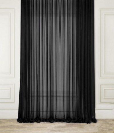 200 идей дизайна интерьера с черной тюлью с фото 🖼